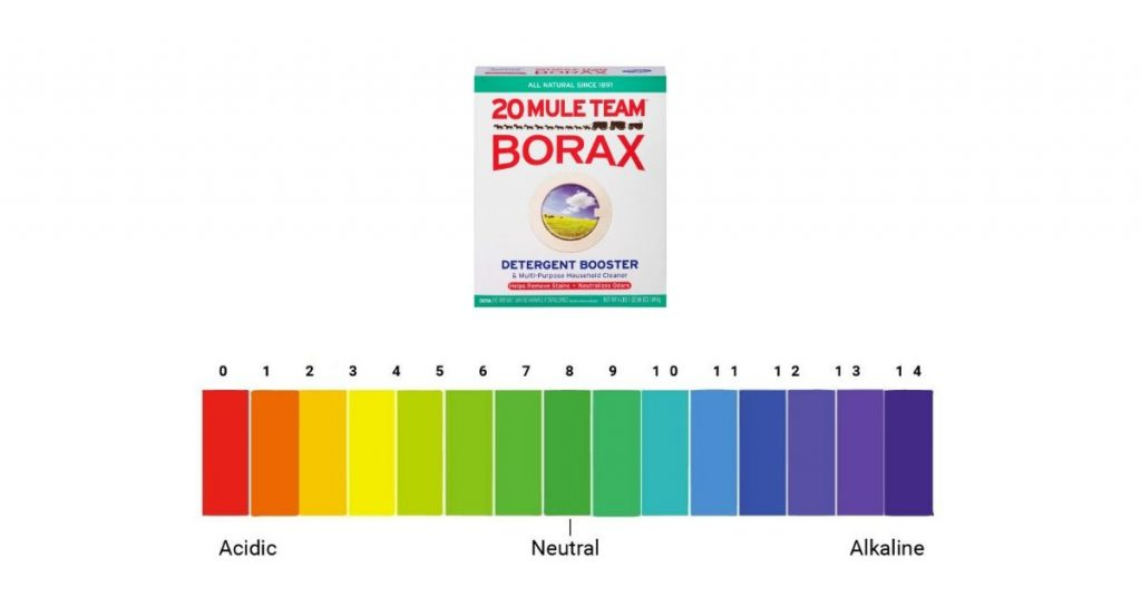 how much borax to raise ph